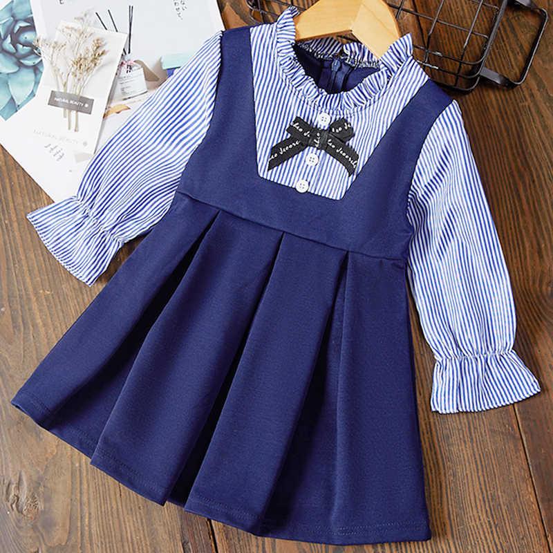 Menoea/осеннее платье для девочек коллекция 2019 года, блузка с длинными рукавами для девочек детское платье с рюшами и капюшоном и заячьими ушками зимняя одежда для детей возрастом от 2 до 6 лет, платье