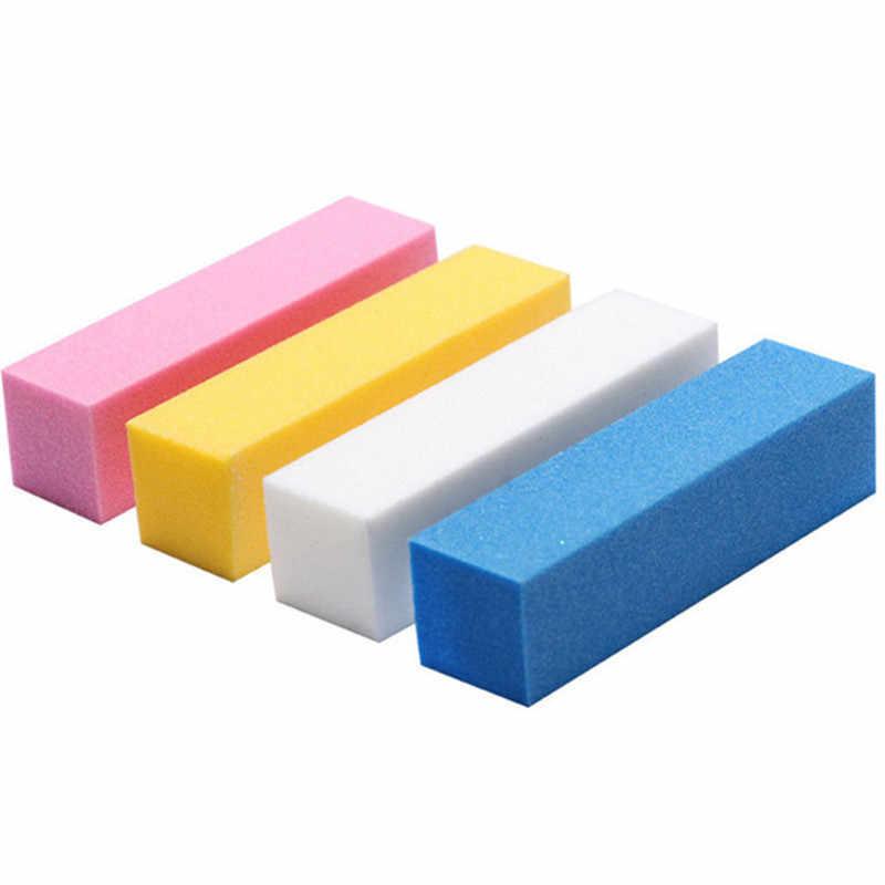 10 pz/set Smeriglitatura Sponge Nail File Buffer di Blocco per la UV Del Gel Del Chiodo FAI DA TE Unghie artistiche Manicure Pedicure Bianco Nail Buffer di File