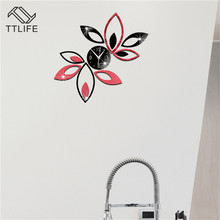 TTLIFE Lotus 3D Wall Stickers Environmentally Friendly Removable Background Stereo Home Decoration Mirror Sticker