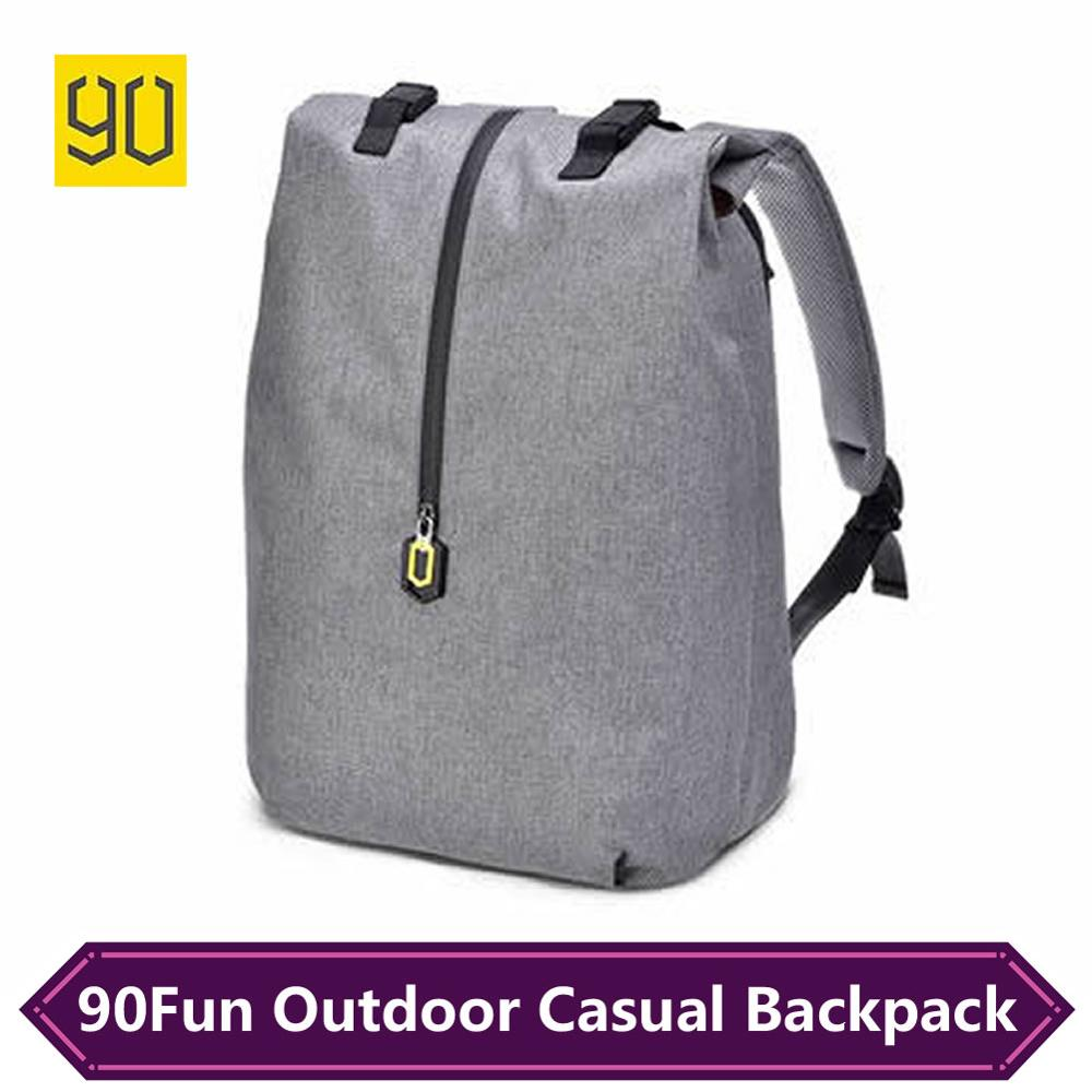 Original Xiaomi 90 Fun Computer School Bag Mi Backpack Waterproof Travel Bag For 14 Inch Laptop Campus College Student Backpacks