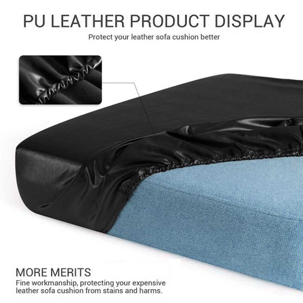 elastic pu leather couch cushion cover waterproof patio chair slipcover furniture protector slip cover for sofa seat replacement
