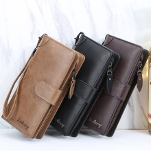 Luxury Men Wallets Long Men Purse Wallet Male Clutch Leather Zipper Wallet Case 2020 Fashion Men Business Male Wallet cheap KEFIRDAY 232g Polyester 10cm Solid Interior Slot Pocket 19 5cm Organizer Wallets NONE Women Wallets Wallet For Women