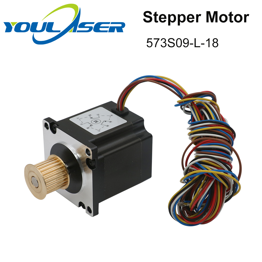 H73bcc41691564caf97be2494a27cb48fd - YOULASER Leadshine 3 Phase Stepper Motor 573S09-L-18 for NEMA23 3.5A Length 50mm Shaft 6.35mm