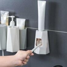 Автоматический Диспенсер зубной пасты самоклеющиеся настенное крепление пыленепроницаемые руки бесплатно зубная паста диспенсер для семьи для ванных и туалетных комнат