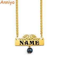 Anniyo (até 10 carta) personalizar cartas pingente colares placa de identificação feminino, nome personalizado kiribati havaiano jóias #231021
