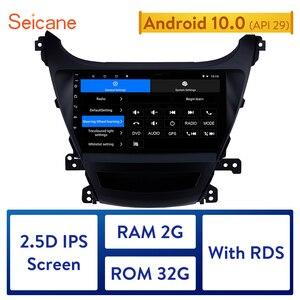 Image 1 - Seicane 2Din 헤드 유닛 안드로이드 10.0 멀티미디어 플레이어 자동차 라디오 2014 2015 2016 현대 Elantra 자동 스테레오 지원 RDS