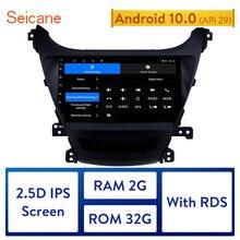 Seicane 2Din ראש יחידה אנדרואיד 10.0 מולטימדיה נגן רכב רדיו עבור 2014 2015 2016 יונדאי Elantra אוטומטי סטריאו תמיכה RDS