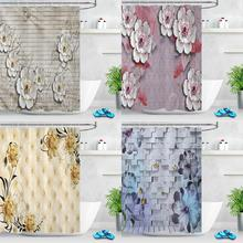 Butterfly Flower Shower Curtains Bathroom Decor Baroque Bath Shower Curtain Floral Waterproof Fabric Curtain with Hooks portrait shadow waterproof fabric shower curtain