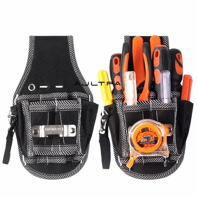 30Pcs 9 In 1 Screwdriver Drill Hammer Storage Waist Pocket Tool Bag Electrician Waist Pocket Tool Belt Pouch Bag