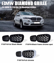 New diamond style grill For BMW X5 F15 X6 F16 2015-2016 Racing Grills Front Kidney Grille Three styles