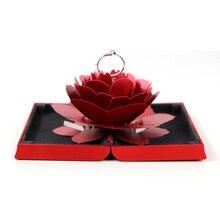 Кольцо коробка для хранения ювелирных изделий подарок обручение держатель Чехол легкий Тиснение Бумага Bump Флик открытое предложение портативный розовый дисплей