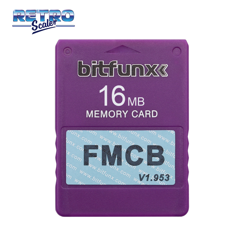 RetroScaler Colorful v1.953 FMCB Free McBoot Card for PS2 Playstation2 16MB Memory Card OPL MC Boot
