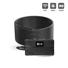 무선 검사 카메라 와이파이 내시경 2.0 MP 1080P HD Borescope 리지드 스네이크 케이블 IOS 아이폰 안 드 로이드 태블릿에 대 한 8 LED