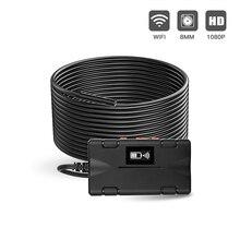 Беспроводная Инспекционная камера WiFi эндоскоп 2,0 MP 1080P HD бороскоп жесткий Змеиный кабель с 8 светодиодами для IOS iPhone Android Tablet