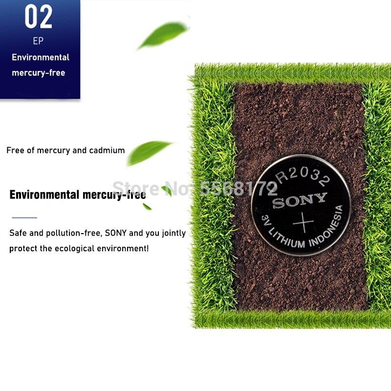 300 pces para sony cr2032 baterias de