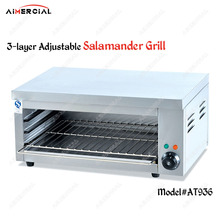 AT936 electric stainless steel salamander grill BBQ Chicken Meat Grill 3-layer adjustable Lift Style Salamander Machine