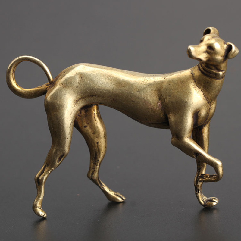 66mm*44mm*54mm Solid Copper Dog Miniatures Figurines for Home Desk decoration Ornaments Handmade Crafts