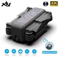 Xkj gps zangão icamera2 com wifi fpv hd 4k câmera profissional sem escova dobrável quadcopter rc dron para o presente das crianças