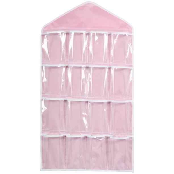 16 กระเป๋าใสถุงแขวนถุงเท้าชุดชั้นใน Racks Hanger Organizer จัดเก็บเสื้อผ้า Stoage กระเป๋าสำหรับ Home สนับสนุน 2020