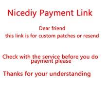 Nicediy custom pay link for patch DIY Heat Transfer Vinyl Sticker Iron On Transfers For Clothes