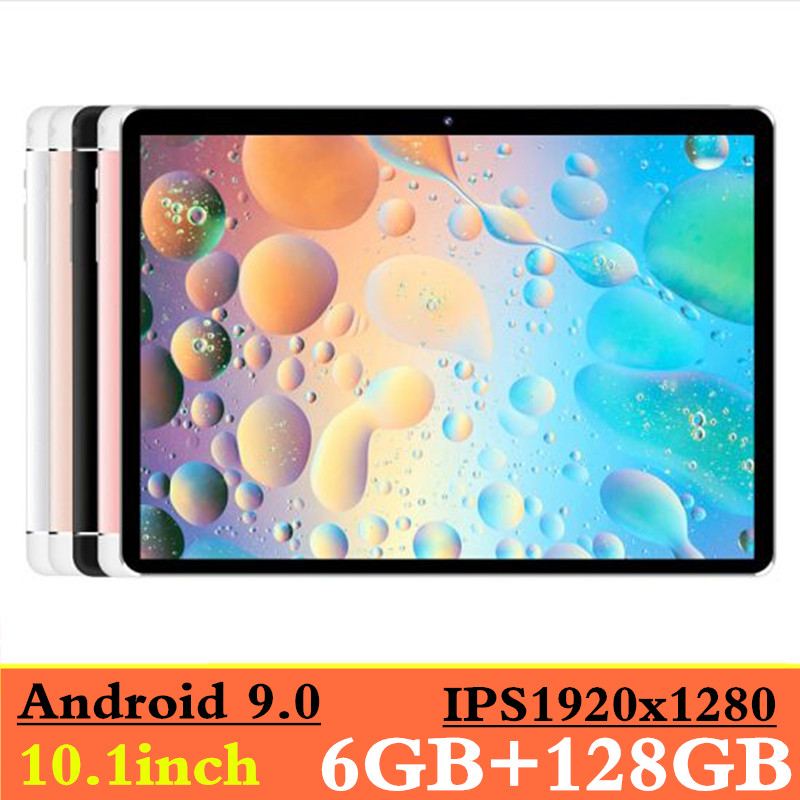NEW 2019 MT8752 6GB RAM+128GB ROM 10.1' Tablets Android 9.0 8 Octa Core Dual Camera 8MP Dual SIM Tablet PC GPS Bluetooth Phone