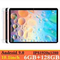 NEW 2019 MT8752 6GB RAM+128GB ROM 10.1' Tablets Android 9.0 8 Octa Core Dual Camera 8MP Dual SIM Tablet PC GPS bluetooth phone