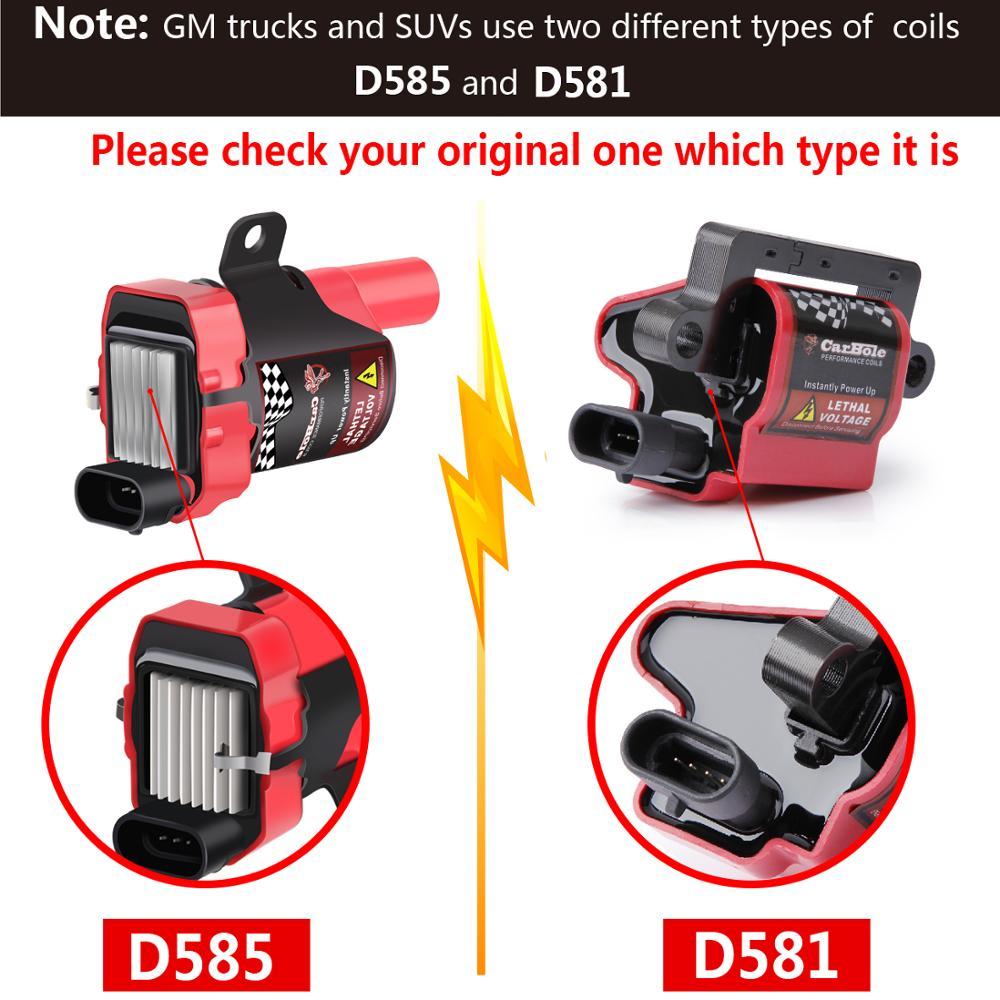 8 D585 UF262 Ignition Coils Spark Plug Wire Set For Chevy Silverado GMC 4.8//5.3L