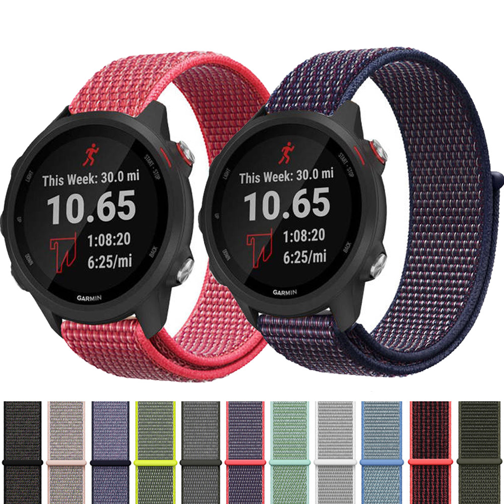 <font><b>20MM</b></font> 22MM Nylon Strap For <font><b>Garmin</b></font> Vivoactive 3 4 Smart Watch <font><b>Band</b></font> Forerunner 645/245 Replacement Quick Release For Vivoactive 4 3 image