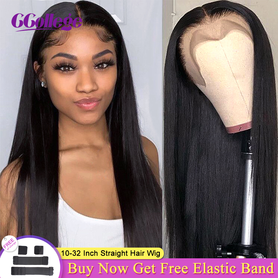 13x4/13x6 Straight Lace Front Human Hair Wigs Pre Plucked With Baby Hair Brazilian Human Hair Lace Wigs For Women Non-Remy