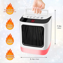 Fan Heater For Home Mini Electric Heater Home Heating Electric Room Heaters Handy Heater Warmer 7 color adjustable night light