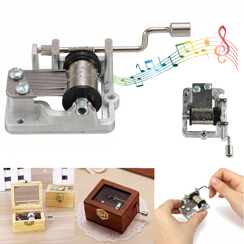 Mini Hand Crank Music Movement DIY Musical Instrument Accessory Decorative Movement  Play Set  Mechanical Music Box Kid Toys
