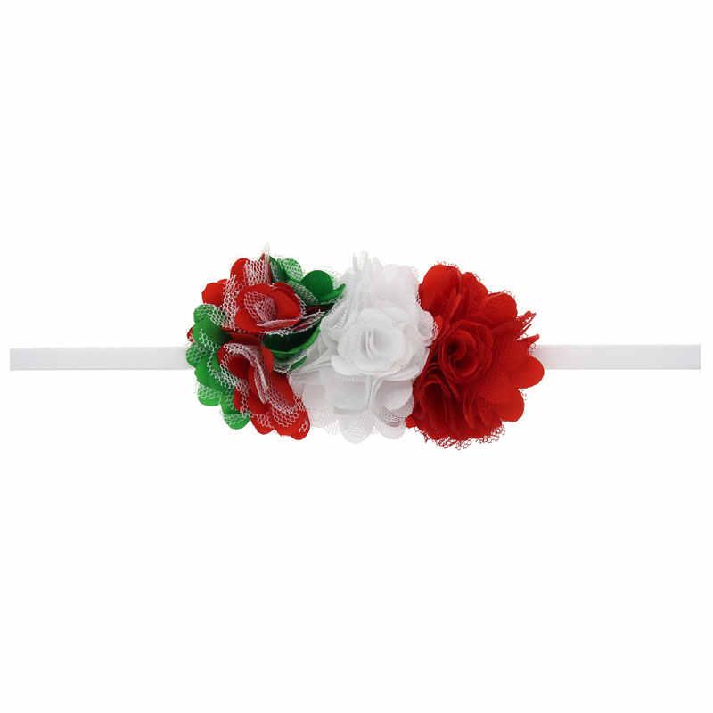 """Рождественские аксессуары для волос Детские шифоновые цветочные повязка на голову """"Принцесса"""" эластичный со стразами головные уборы для фотосъемки HB477S"""