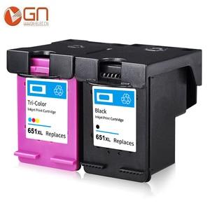 Gn 651XL Mực Dành Cho Máy In HP 651 651 XL Mực In Dùng Cho Máy In HP Deskjet 5575 5645 Officejet 202 252 Máy In