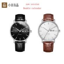 2 цвета, светильник Youpin TwentySeventeen, механические часы с сапфировым покрытием и кожаным ремешком, деловые часы для мужчин