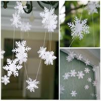 3m artículos de fiesta de la línea frozen plata forma de copo de nieve papel guirnalda Navidad boda decoración escena Año Nuevo nieve flor Decoración