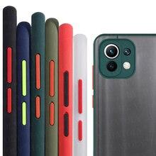 Voor Xiaomi Mi 11 Lite Case Mi 11 Pro Ultra Cover Shockproof Tpu Bumper Matte Transparante Armor Telefoon Geval Voor xiaomi Mi 11 Lite