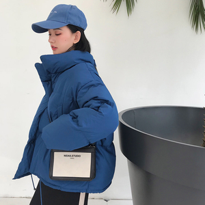 Image 1 - Зимние Модные женские парки, пуховики с хлопковой подкладкой, теплые, толстые, свободные, большие, однотонные, ватные куртки, женские повседневные куртки