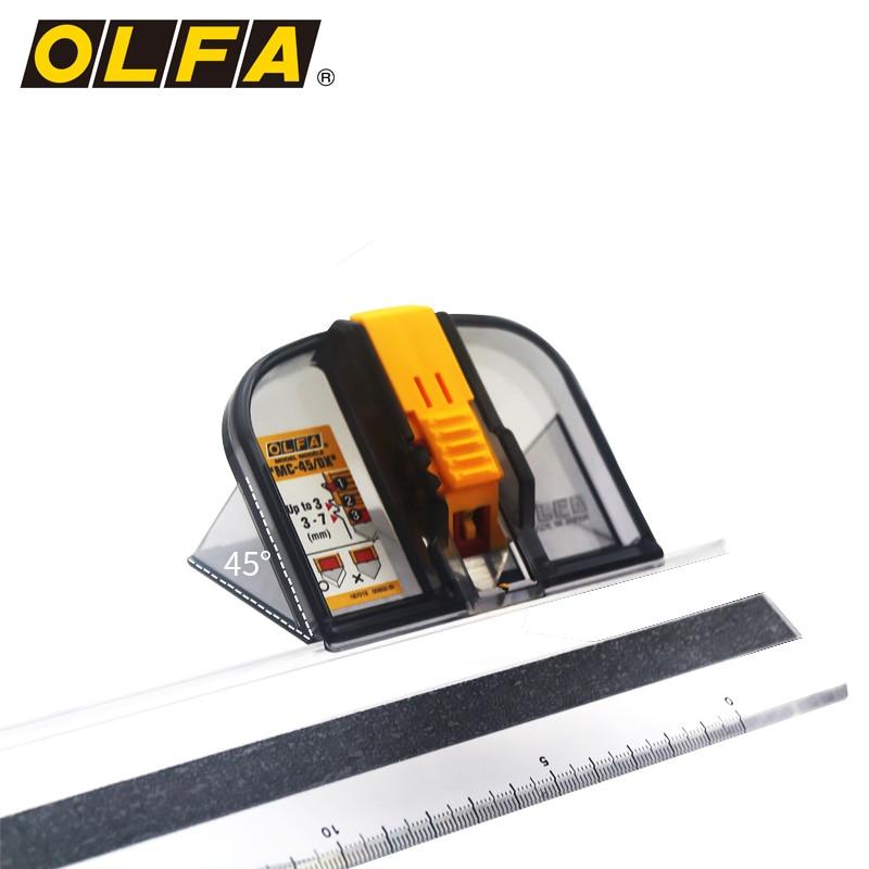 OLFA rahmen spezielle messer, 45 grad winkel schneiden rahmen messer, 2 stück von eingefasst rand, 1 lineal MC 45 - 3