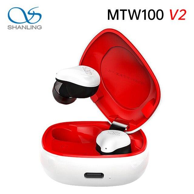 Беспроводные наушники Shanling MTW100 V2, Bluetooth 5,0, IPX7 водонепроницаемые наушники вкладыши