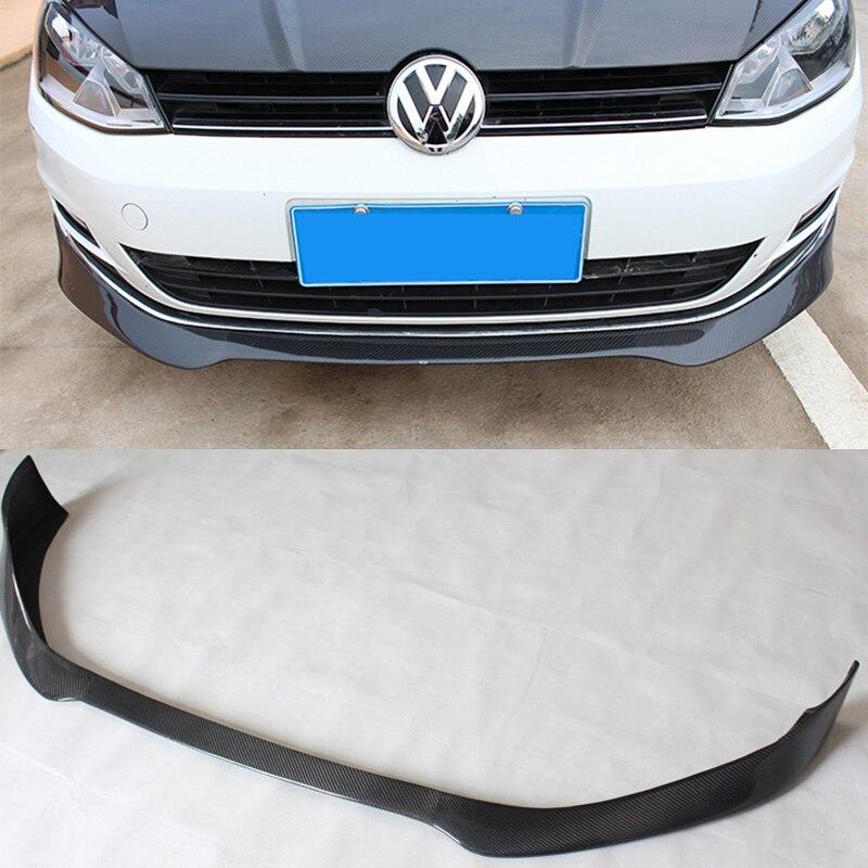 Golf 7 MK7 DTM Style Carbon Fiber Car Front Bumper Lip Spoiler Wing for Volkswagen VW Golf7 Golf VII Not R line Not GTI|spoiler wing|lip spoiler|front bumper lip spoiler - title=