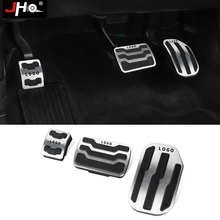 JHO Car Non slip Gas Fuel Foot Brake Pedals Cover Parts For 2010 2020 F150 2019 2016 2017 2018 2015 2014 Raptor XLT Accessories