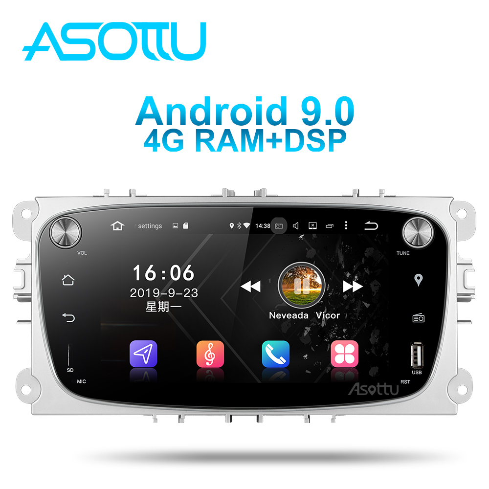 Asottu FO601 Android 9.0 PX6 Car DVD for <font><b>Ford</b></font> focus 2 Mondeo C-max galaxy 2 S-max <font><b>Transit</b></font> Tourneo <font><b>gps</b></font> radio video in dash dvd image