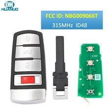 Keyless-Go 3 + 1 przycisk ASK315 MHz zdalnie sterowany klucz/48 CHIP / FCC ID: NBG009066T/dla 2006-2013 Passat, 2009-2015 CC