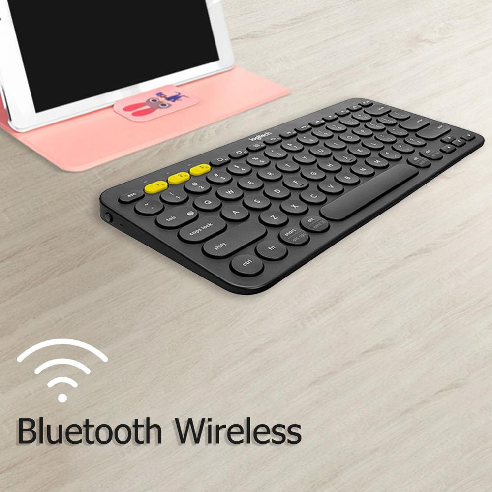 Image 2 - Logitech K380 Multi Device Bluetooth Wireless Keyboard Ultra Mini Mute for Mac Chrome OS Windows for iPhone iPad AndroidKeyboards   - AliExpress