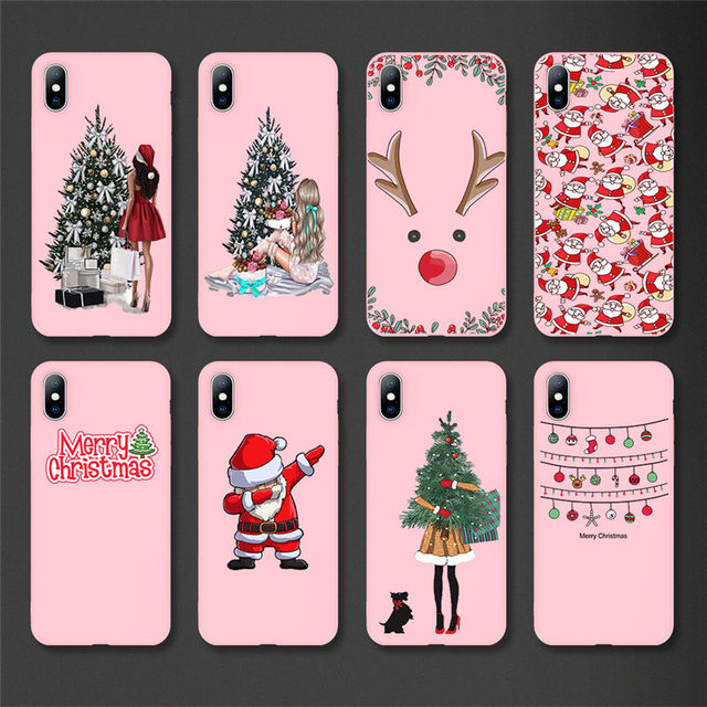 Lovebay Christmas Santa Claus For iPhone 11 Phone Case For iPhone 7 8 6 6s Plus X XR XS Max 11 Pro 5 5s SE Silicone Back Cover