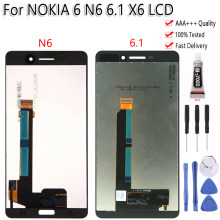 Originele Voor Nokia 6 N6 X6 6.1 Plus Lcd Touch Screen Digitizer Vergadering Vervanging Gratis Tools Voor Nokia 6.1 LCD(China)