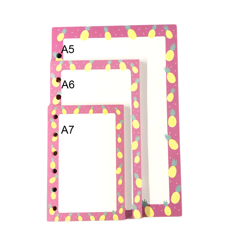 Cute Weekly Diary Journal Filler Paper for  A5 A6 A7 Spiral Notebooks Stationery Accessories 3