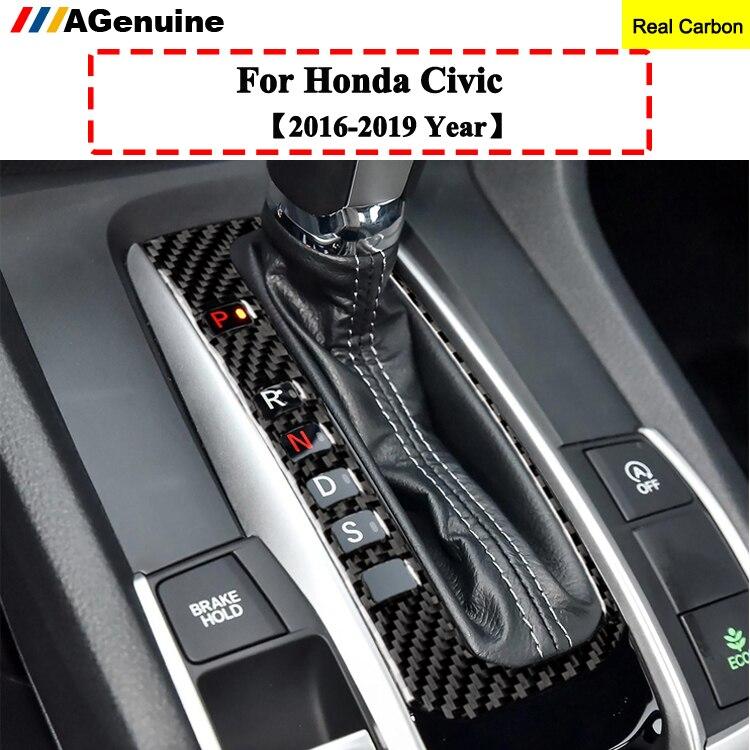 Carbon Fiber Look Front Middle Console Air Vent Trims For 2016-2019 Honda Civic