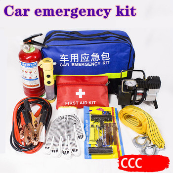 Automobile emergency kit annual inspection fire extinguisher kit road rescue emergency kit combination of automobile tire