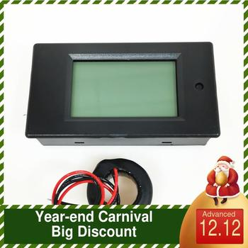 Peacefair Single Phase Digital Panel AC Ampere Meter Voltage Current Meter 80-260V 100A 4IN1 for Homeuse PZEM-061 With Coil CT ac power meter ac 80 300v 100a voltage current color lcd display panel digital voltmeter ammeter with current transformer ct